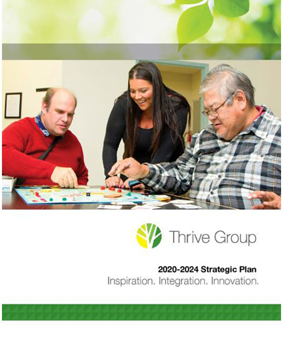 Cover of Thrive Group Strategic Plan Blooklet
